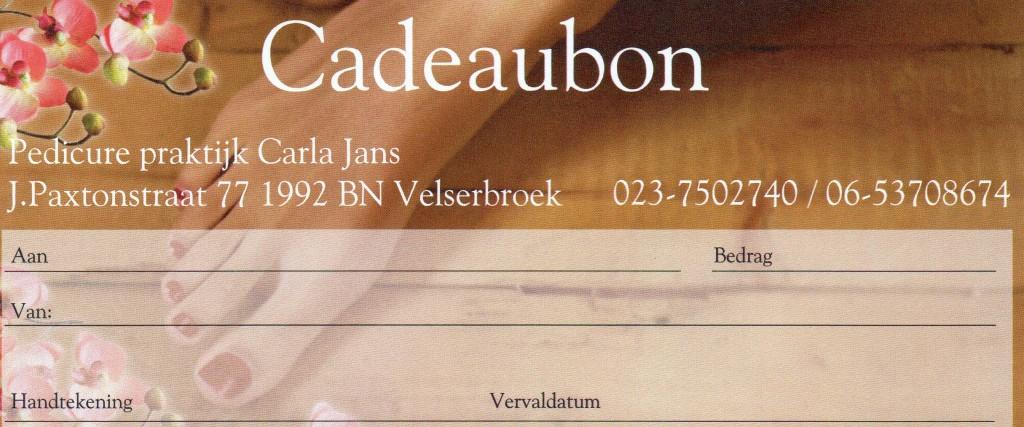 Carla Jans Pedicure Cadeaubon